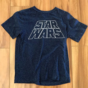 Star Wars Lucas Films Blue And White Short Sleeve